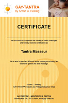 Certificate for Masseur Training